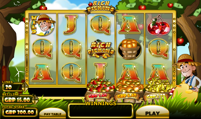 Rich Pickins Slot - Play this Eyecon Casino Game Online