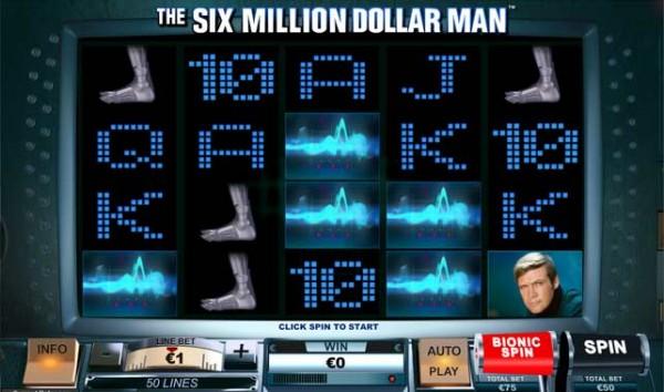 six million dollar man slot