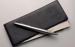 cheque book