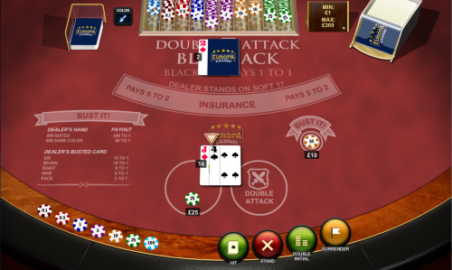 double attack blackjack screenshot