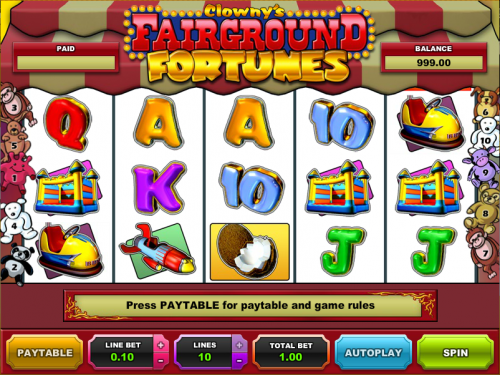 clownys fairground fortunes slot