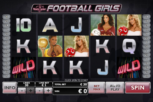 benchwarmer football girls slot