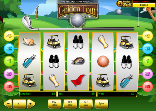 Top Five Golf Slots with Free Spins
