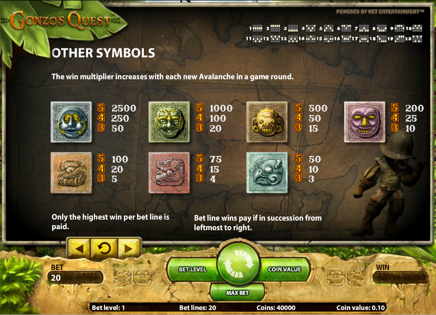 Play Gonzo's Quest Online Slots at Casino.com South Africa