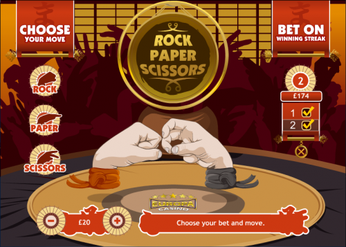 rock paper scissors screenshot