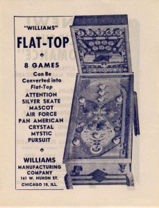 Williams' Flat Top Pinball