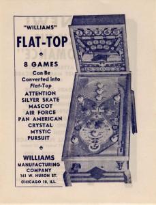 Williams' Flat Top Pinball
