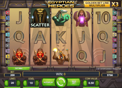 list of ancient egyptian heroes slot