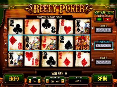 reely poker screenshot