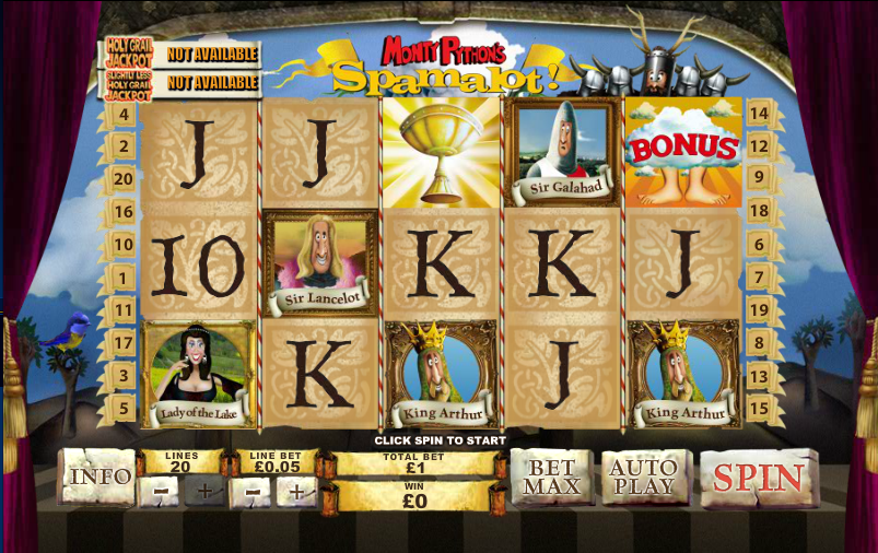 Play Spamalot Scratch at Casino.com UK