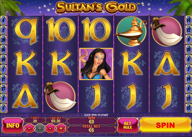 Play Sultan's Gold Slots Online at Casino.com Canada