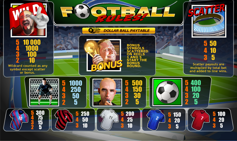 Play Football Rules Slots Online