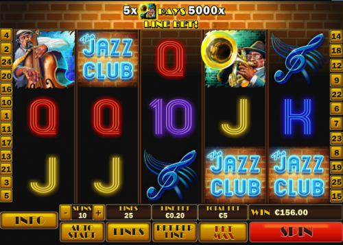 Play The jazz Club Online Slots at Casino.com UK