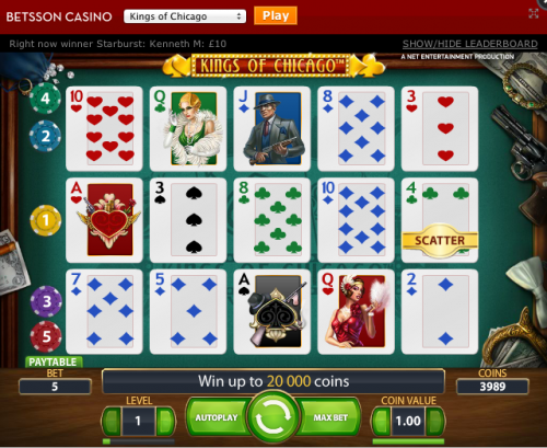 Kings of Chicago - gratis online poker slot
