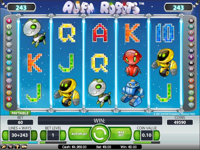 alien robots slot review