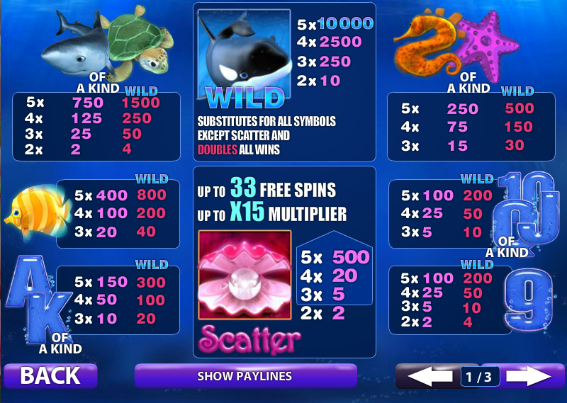 Play Great Blue Slots Online at Casino.com Canada