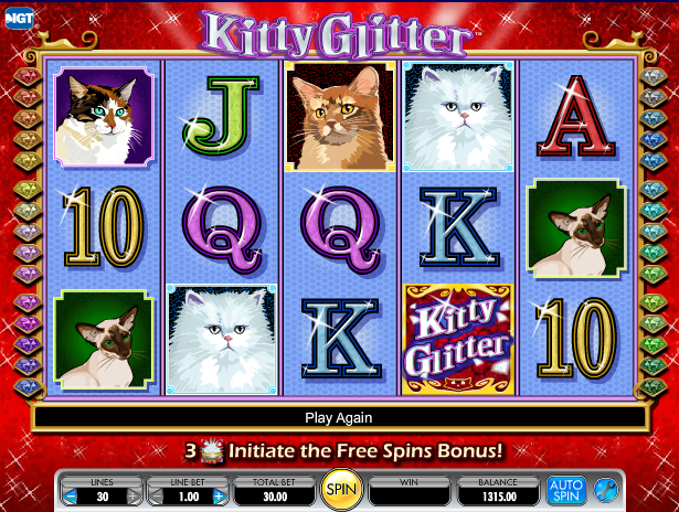 kitty glitter screenshot