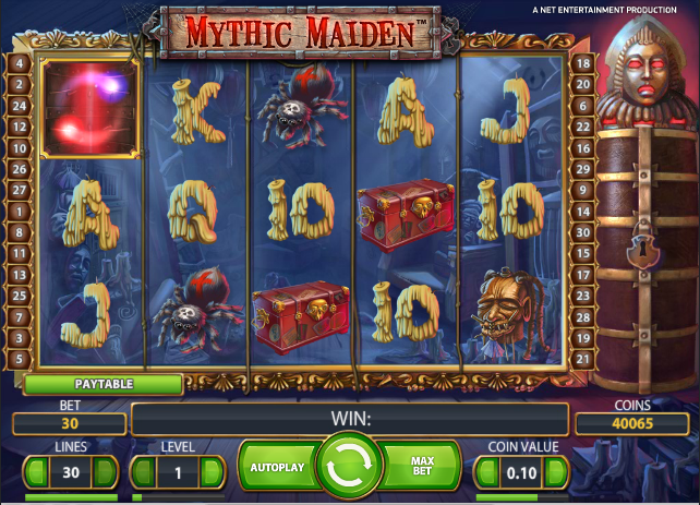 Mythic Maiden™ Slot Machine Game to Play Free in NetEnts Online Casinos
