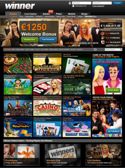 winner casino online mobile