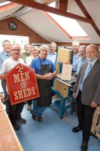 Some men in a shed on the Isle of Man