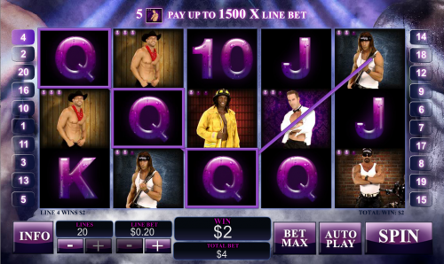 Play Chippendales slot at Casino.com UK