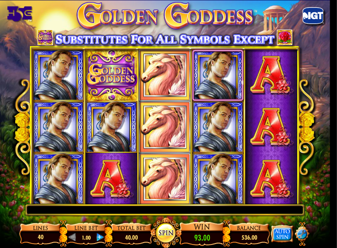 play golden goddess free slots