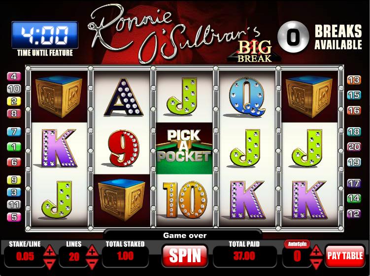 Ronnie 0 Sullivans Big Break Slot - Play Online for Free