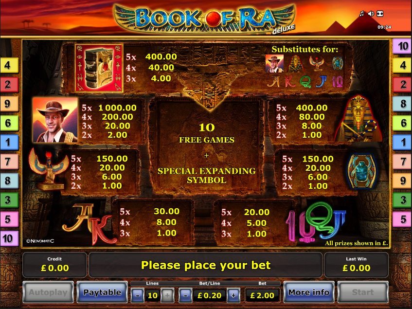 book of ra online slot game