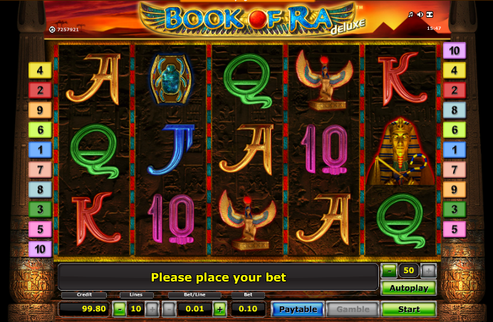 online casino game book of ra deluxe slot
