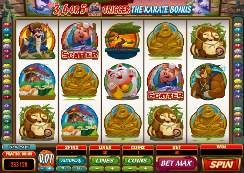 karate pig slot review