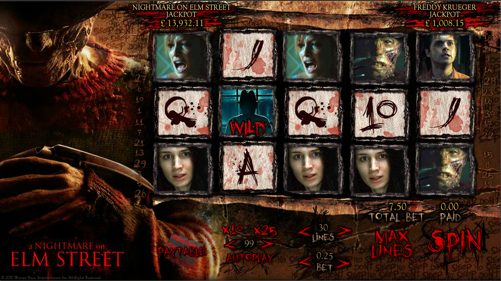 Image result for Nightmare on Elm Street slot
