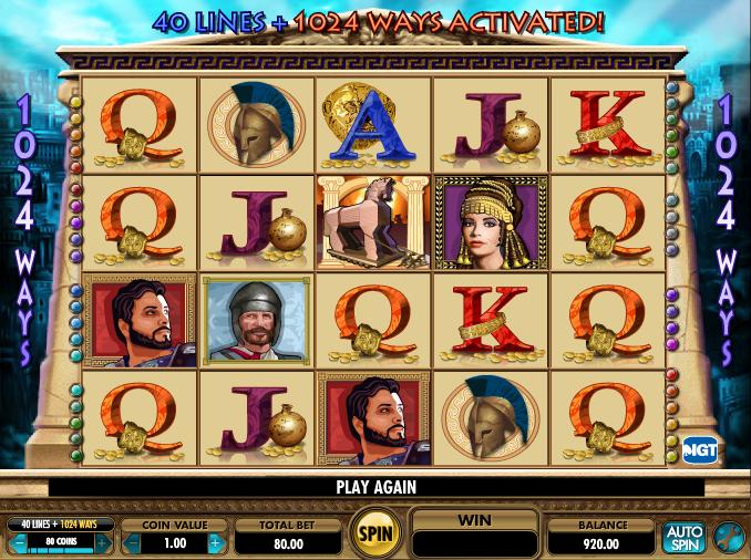 Treasures of troy casino game