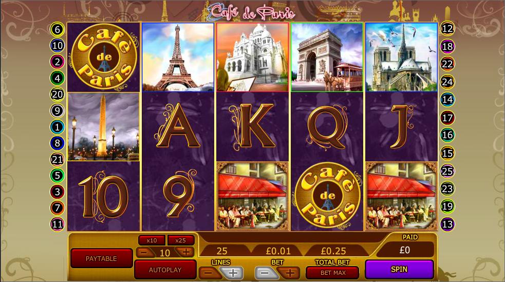 Café De Paris Slot Machine - Review and Free Online Game