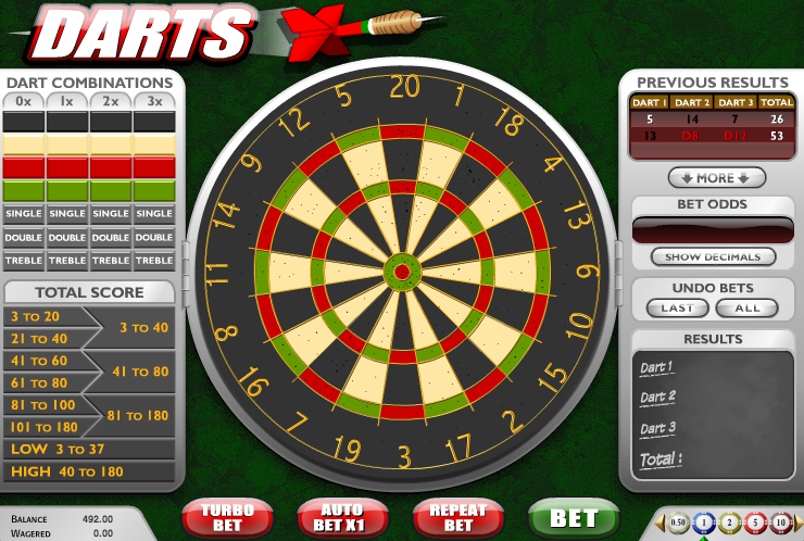 Play the Darts Arcade Game at Casino.com UK
