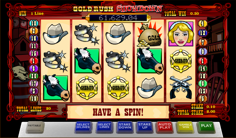 gold rush showdown slot