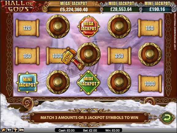 hall of gods progressive jackpot
