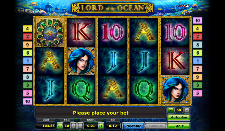 online casino free spins lord of the ocean