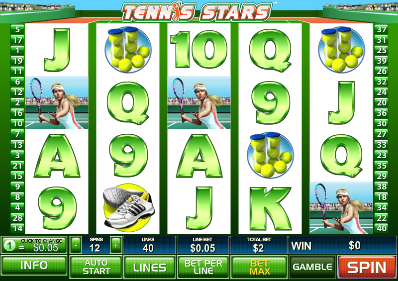 Play Tennis Stars Slots Online at Casino.com UK