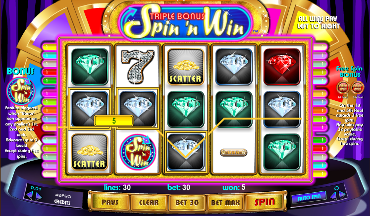 triple bonus spin n win screenshot