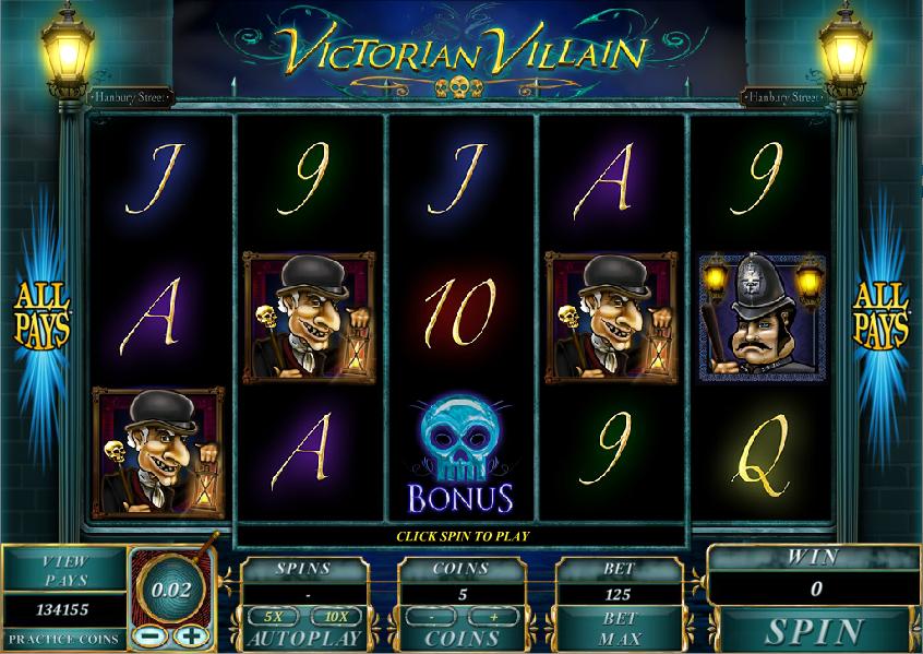 victorian villain slot