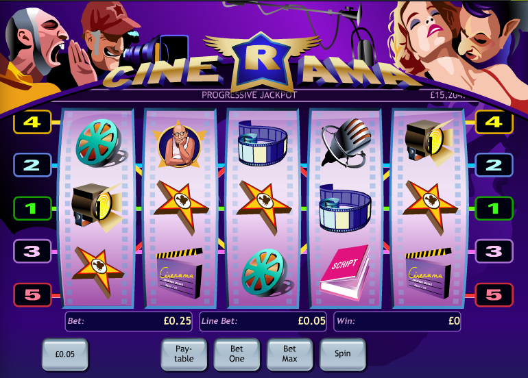 Play the Cinerama Online Slots at Casino.com UK
