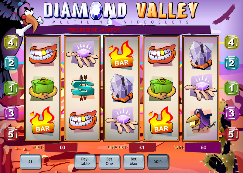 Play the Diamond Valley Online Slots at Casino.com UK