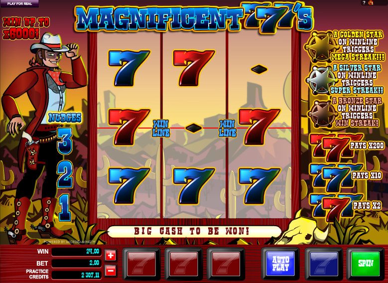 magnificent 777s slot