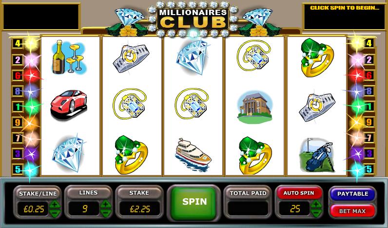 millionaires club slot