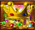 rainbow king crown