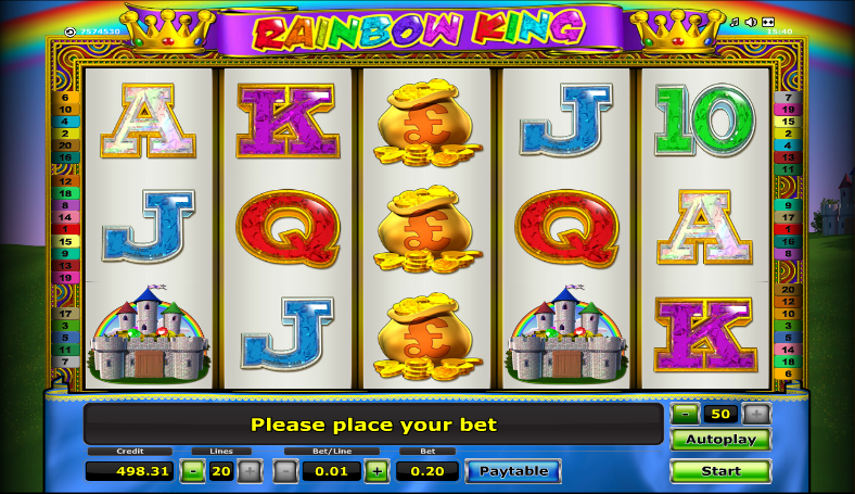 Rainbow King Slot Online – Play This Novomatic Game for Free