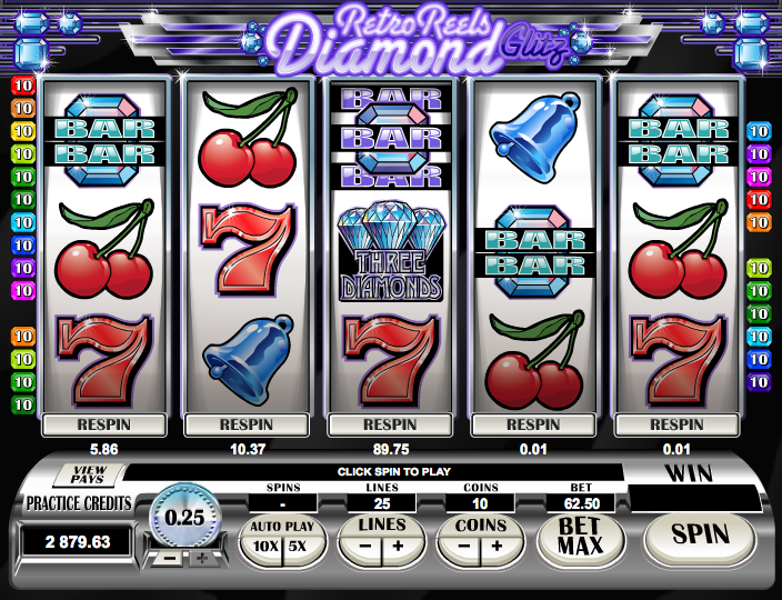 retro reels diamond glitz screenshot