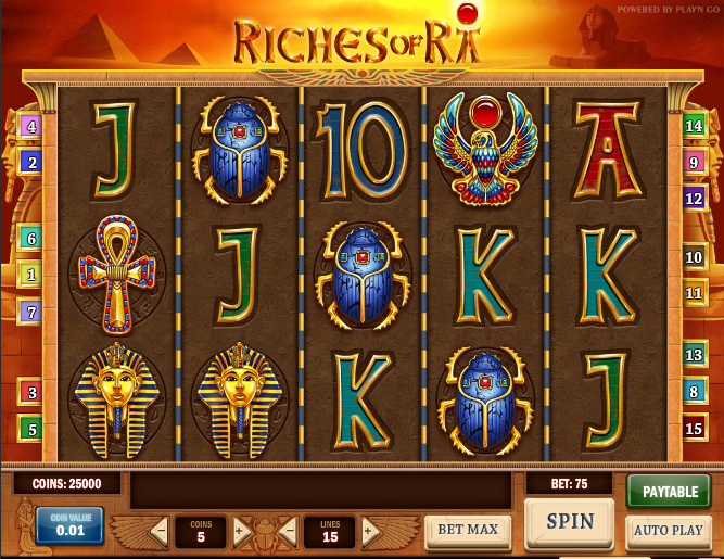 slots online casinos ra play