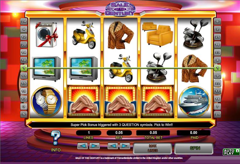 sale of the century slot