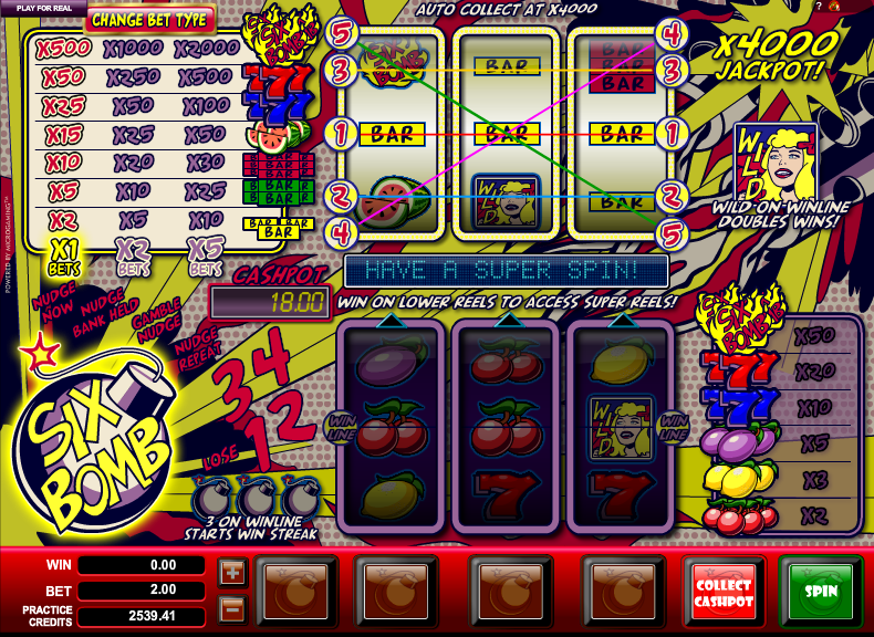 Six Bomb Slots - Play Free Microgaming Slot Machines Online